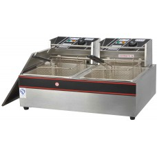 Commercial Electric 2 Tank Fryer with 2 Basket
