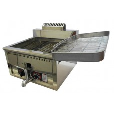 Gas Deep Fryer Stainless Steel Automatic Temperature Control 17L