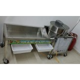 Commercial Air Popping Popcorn machine with cart (Gas)